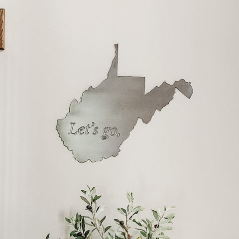 West Virginia Let's Go Mountaineers Wall Decor