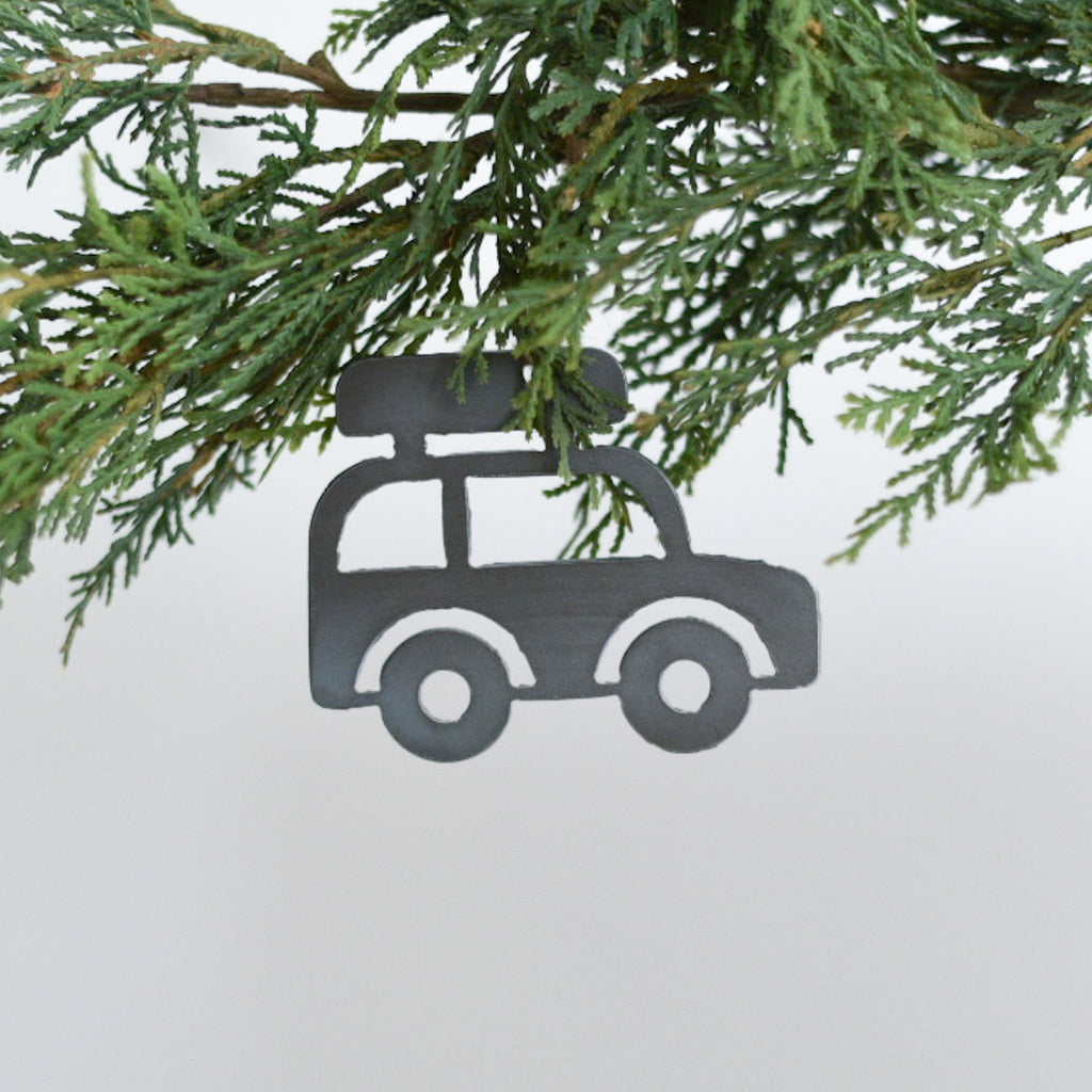 Jeep with Roof Rack Ornament