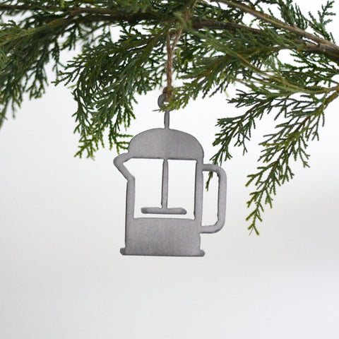 French Press Coffee Ornament
