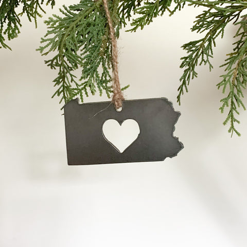 Pennsylvania Heart Ornament