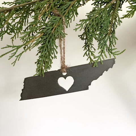 Tennessee Heart Ornament