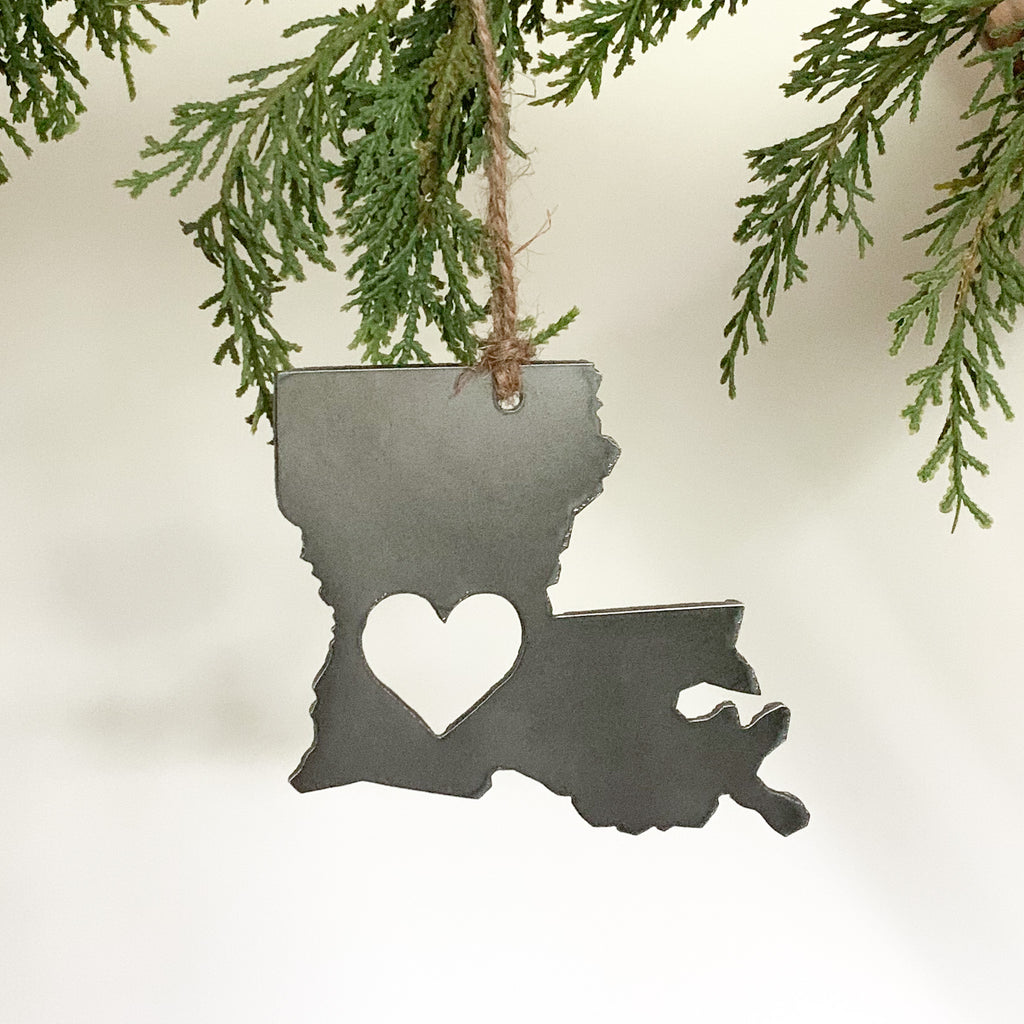 Louisiana Heart Ornament