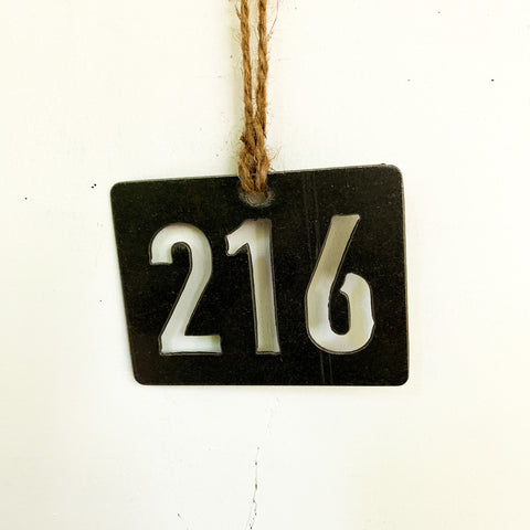 Ohio 216 Area Code Ornament