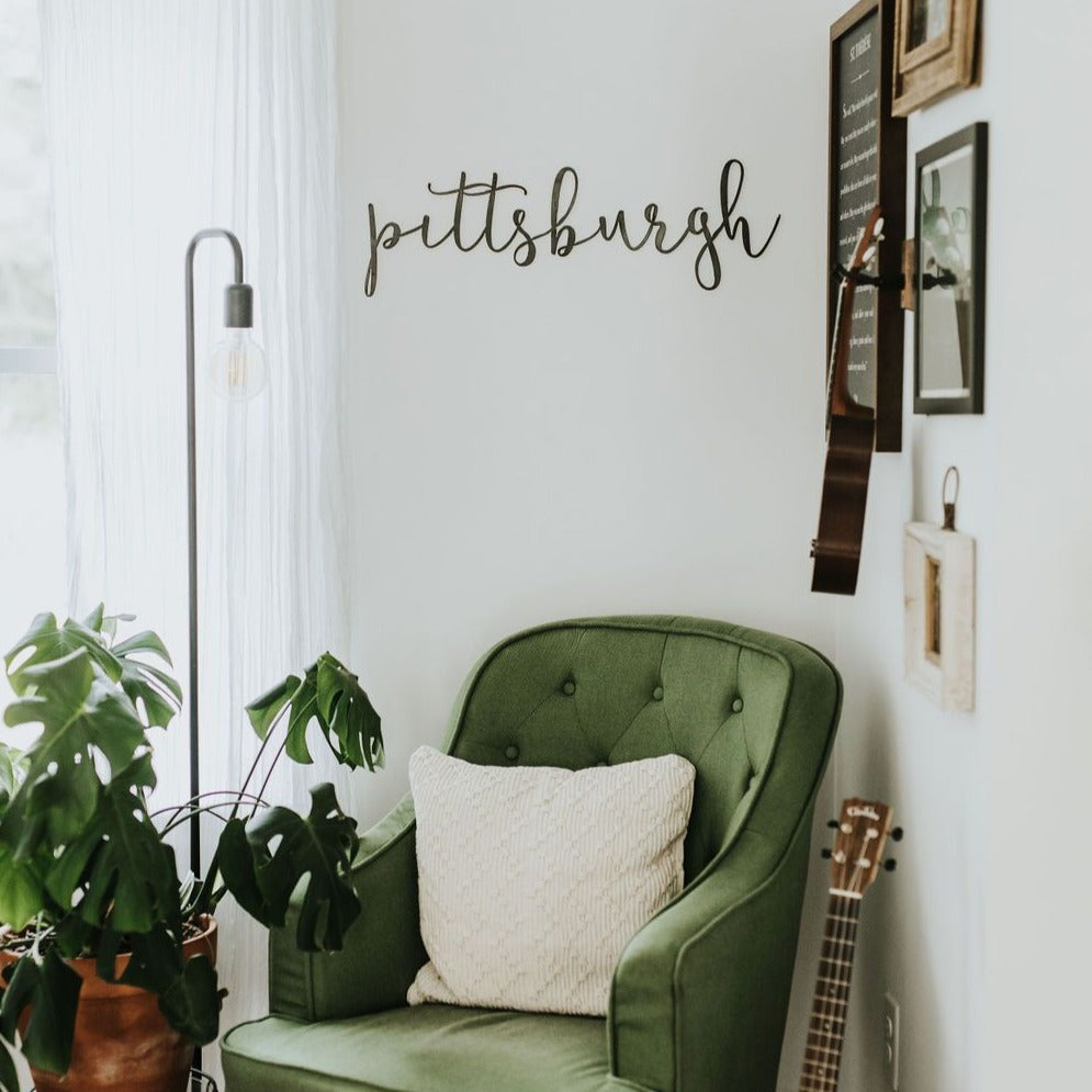 Pittsburgh Script Wall Decor