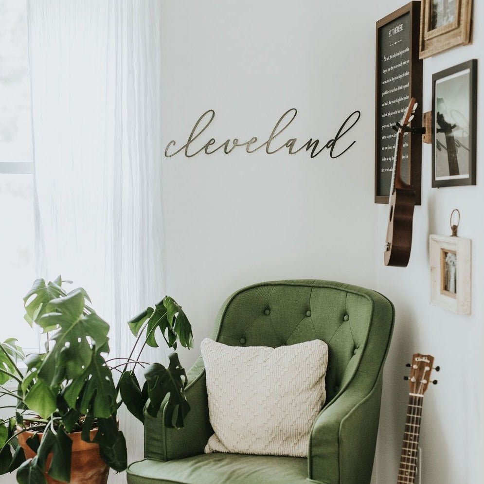 Cleveland Ohio Script Sign