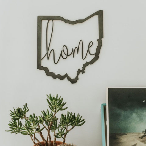 Ohio Script Home Wall Decor