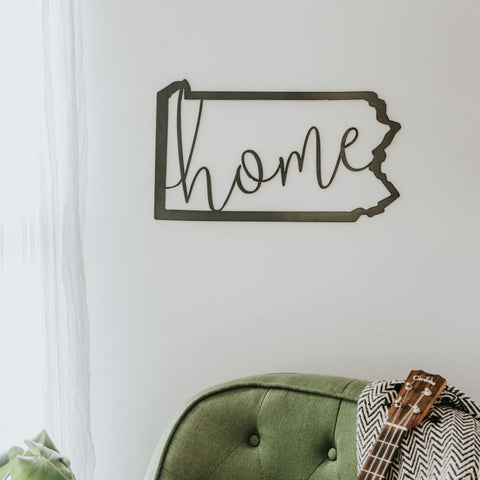 Pennsylvania Home Script Wall Decor