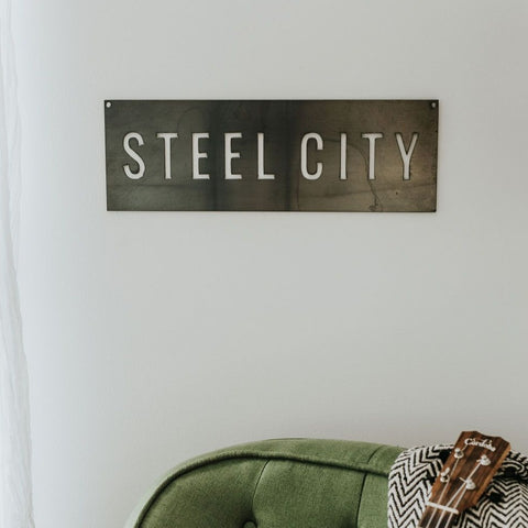Pittsburgh Steel City Wall Decor