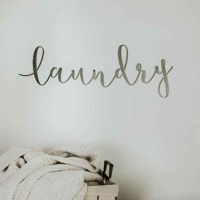 Laundry Script Wall Sign