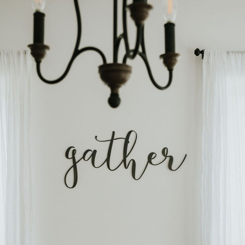 Gather Script Wall Decor