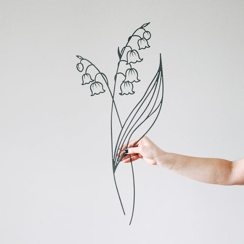 Lily of the Vally Flower Wall Decor
