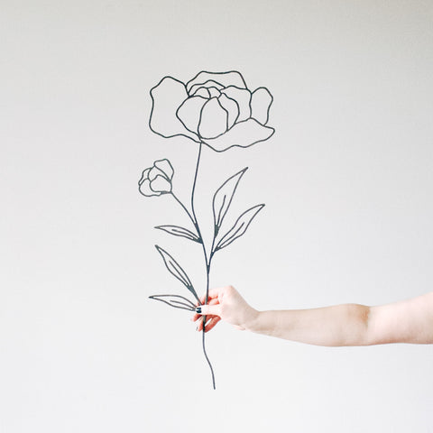 Peony Flower Wall Decor