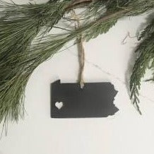 Pittsburgh Heart Ornament