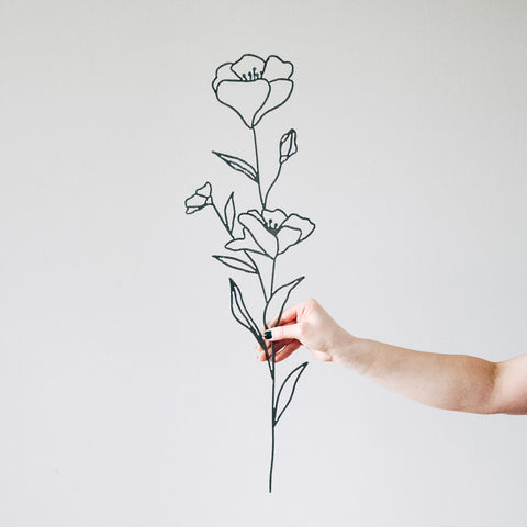 Poppy Flower Wall Decor