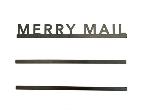 """Merry Mail"" Bars - Magnetic Christmas Card Display"