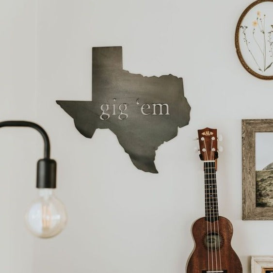 Texas Gig 'Em Wall Decor