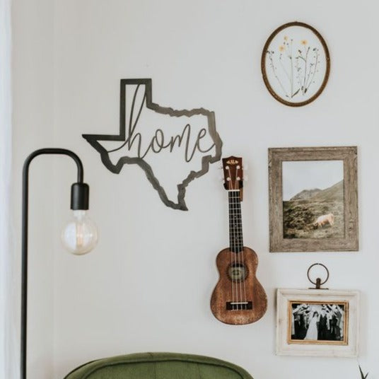 Texas Script home Wall Decor