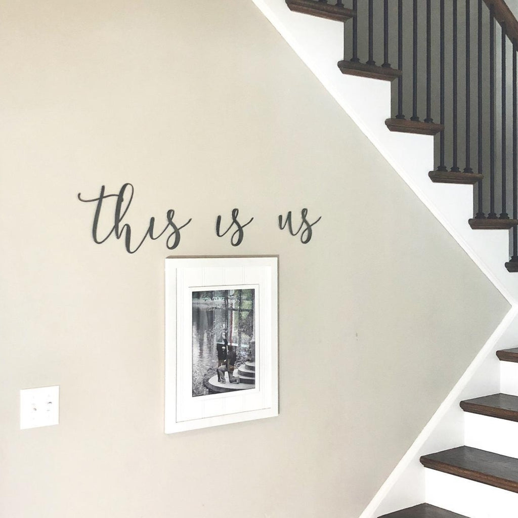 This Is Us Script Wall Decor