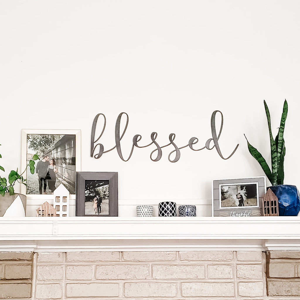 Blessed Script Wall Decor