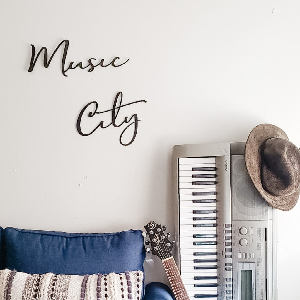 Music City Tennessee Script Wall Décor