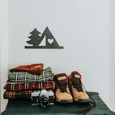 Tent & Tree Wall Decor