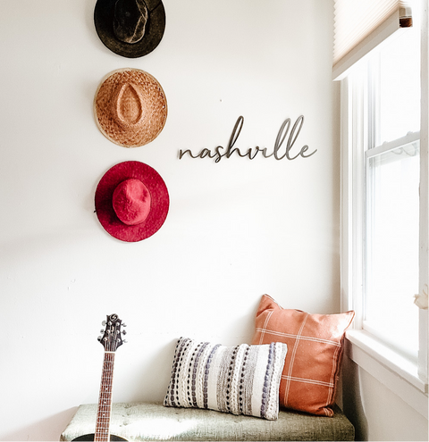 Nashville, Tennessee Script Wall Decor