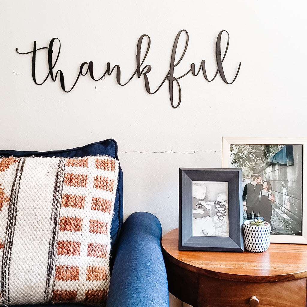 Thankful Script Wall Decor