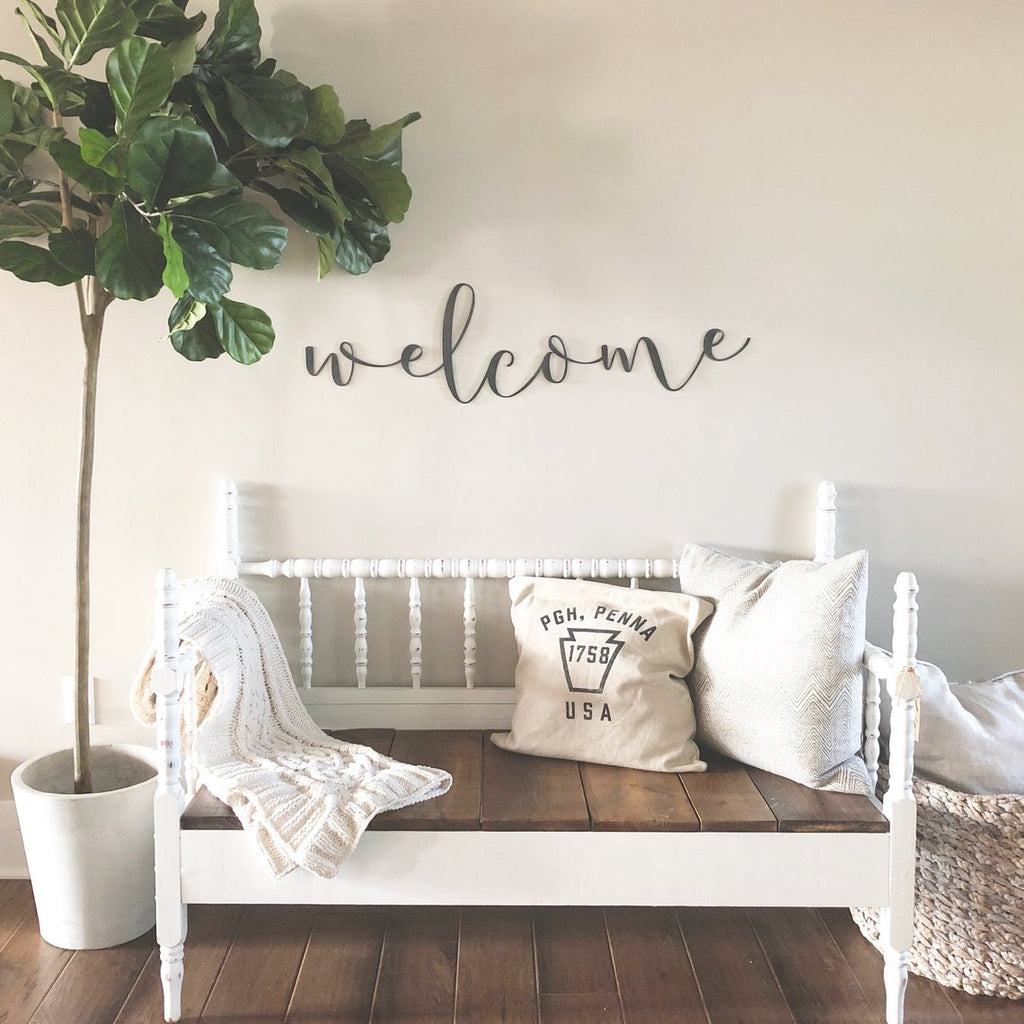 Welcome Script Wall Decor