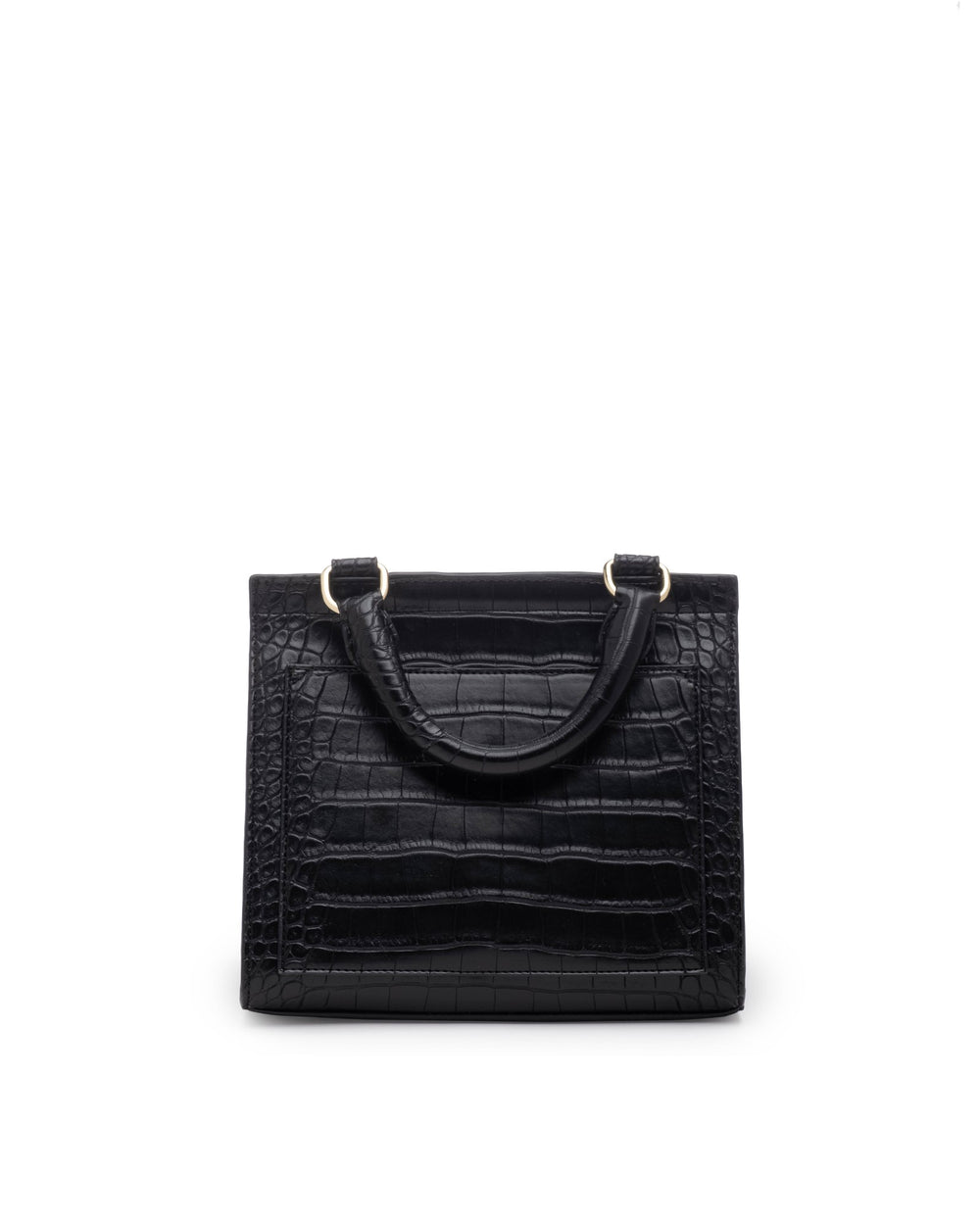 color:Black Faux Crocodile