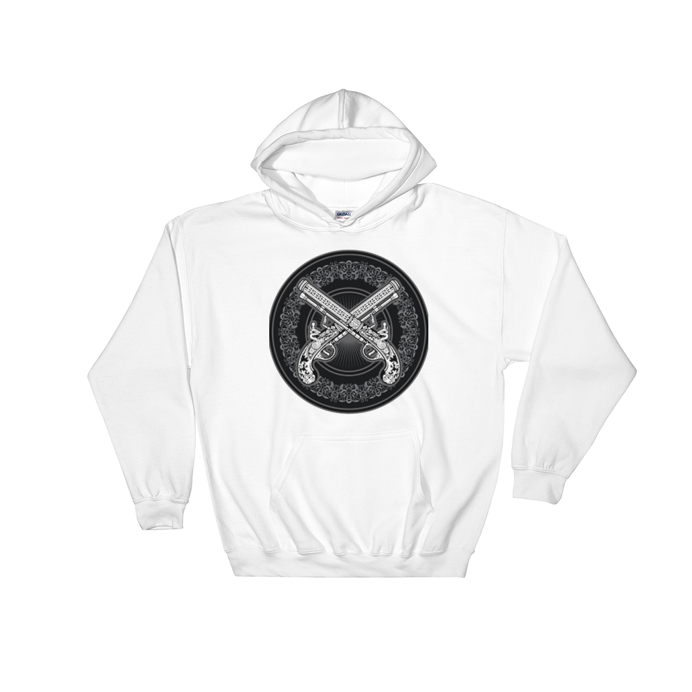 GunFight Icon Hooded Sweatshirt (White)