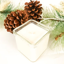 Recycled Glass Soy Candle - 8oz Square