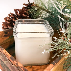 Recycled Glass Soy Candle - 8oz Square - Wholesale