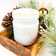 Milk Glass Hobnail Soy Candle - 22oz