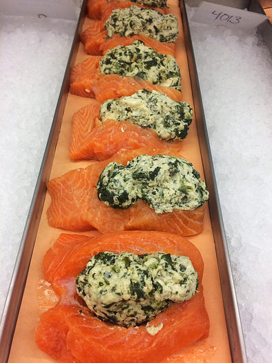 Spinach & Feta stuffed salmon