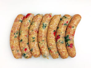 Spinach and Roasted Red Pepper Chicken Sausage