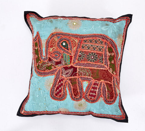 Indian Elephant Cushion Cover