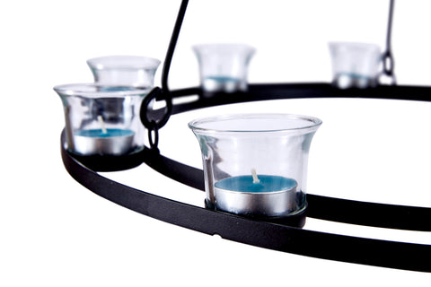 Single Tier Tea Light Chandelier