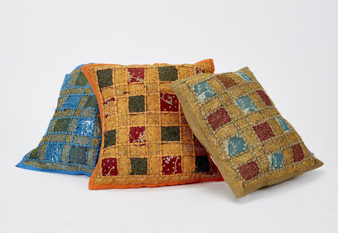 Medium Indian Patchwork Cushion Cover