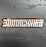 3DMachines Orange and Blue Decal - 3DMachines