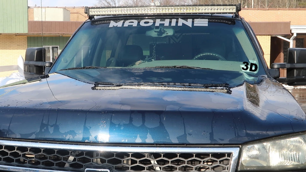 MACHINE WINDSHIELD DECAL