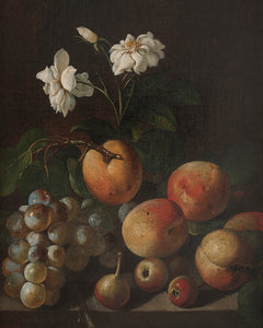 Fruit and Rose Still Life