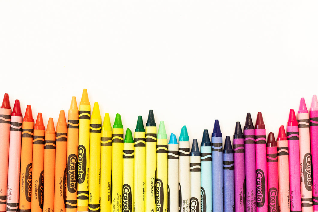 Line of Crayons