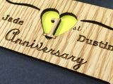 1st Anniversary Picture Frame, Picture Frame, home decor, laser engraved - Legacy Images