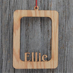 Name Picture Frame Ornament, Ornament, home decor, laser engraved - Legacy Images