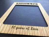 Years Of Love Picture Frame, Picture Frame, home decor, laser engraved - Legacy Images