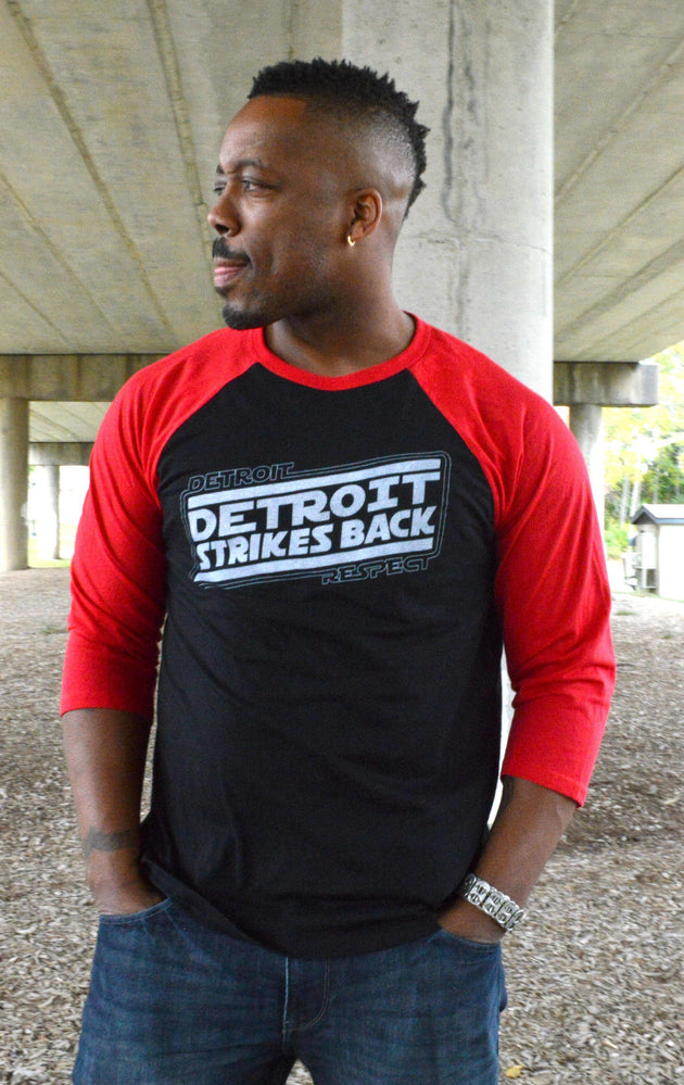 Detroit Strikes Back 3/4 unisex baseball tee