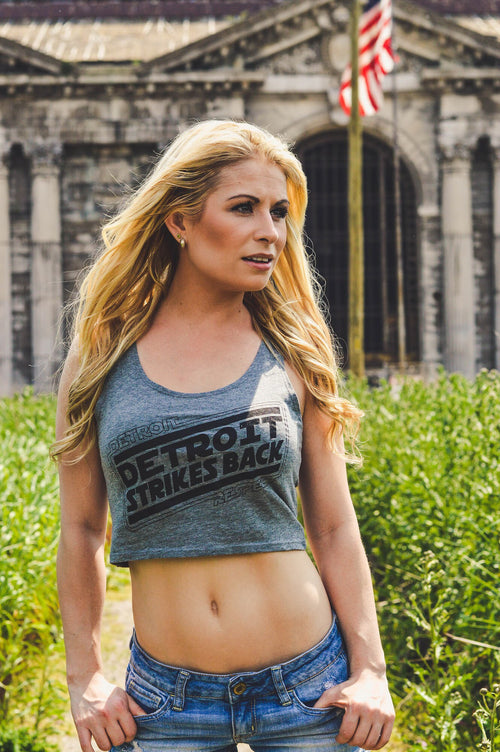Detroit Strikes Back Crop tank