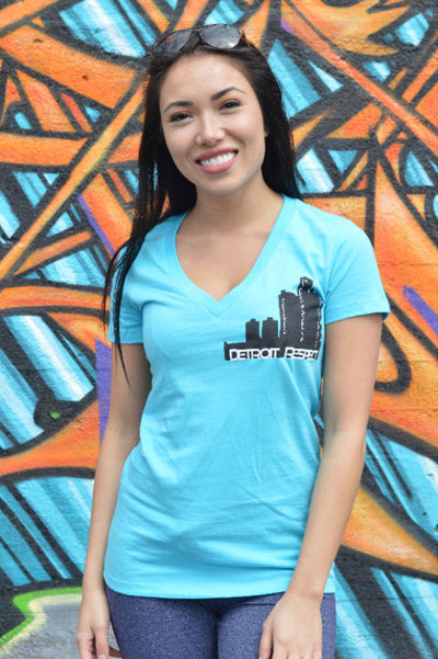 Detroit Skyline V-Neck