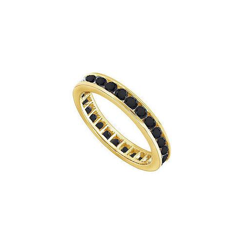 Black Diamond Eternity Band : 14K Yellow Gold - 1.00 CT Diamonds
