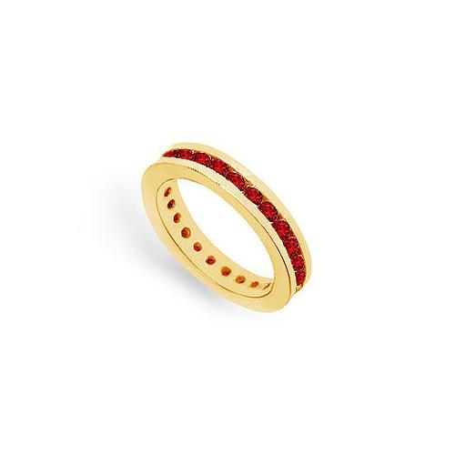 Ruby Eternity Band : 14K Yellow Gold  1.00 CT TGW